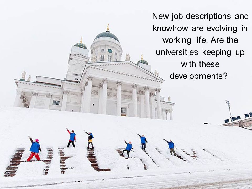 New job descriptions and knowhow are evolving in working life.