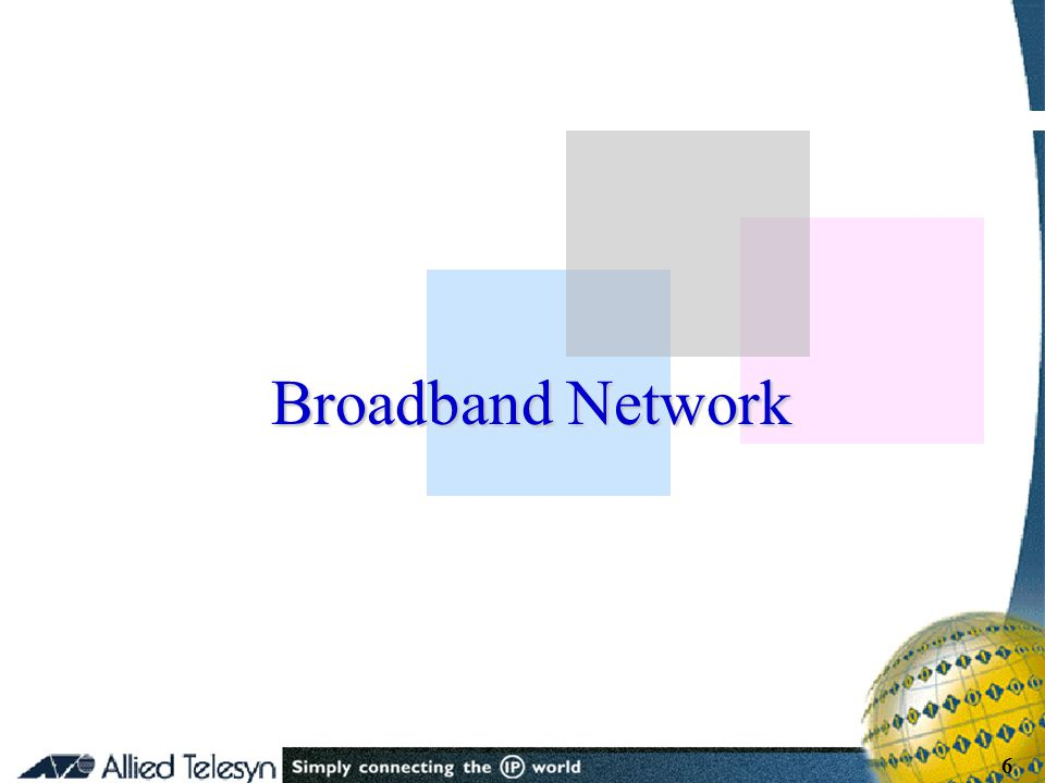 - 6 - Copyright Allied Telesis 2001 6 Broadband Network