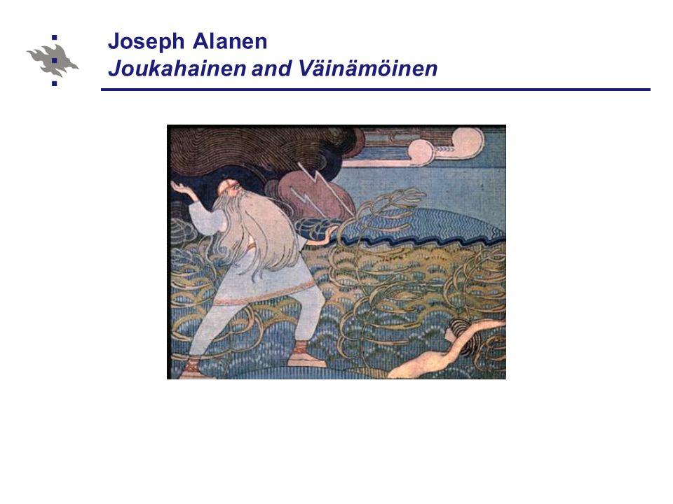 Joseph Alanen Joukahainen and Väinämöinen