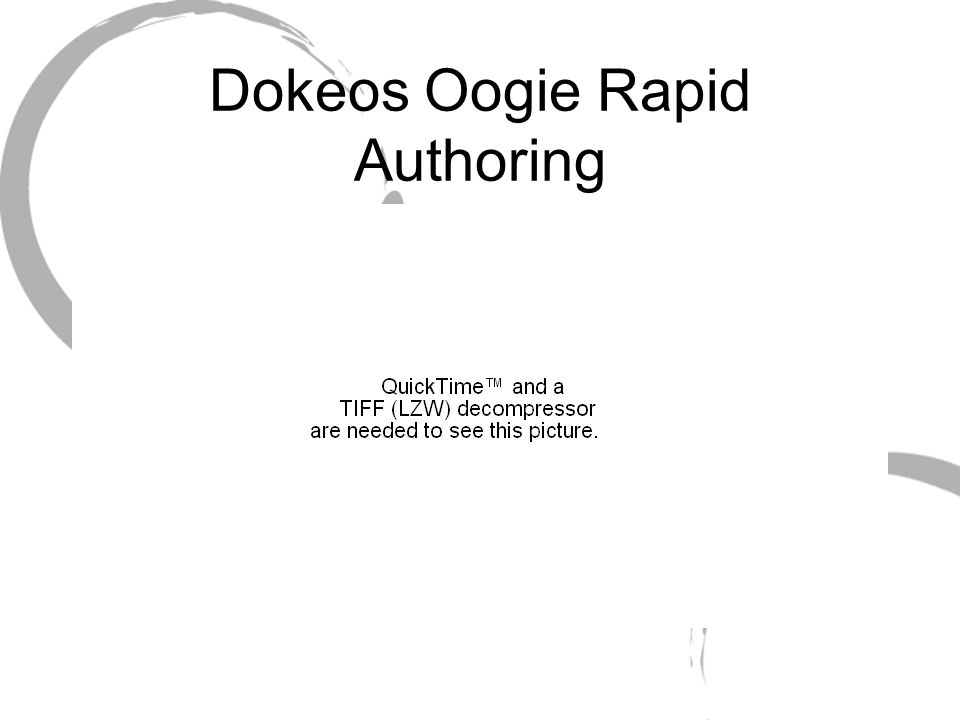 Dokeos Oogie Rapid Authoring
