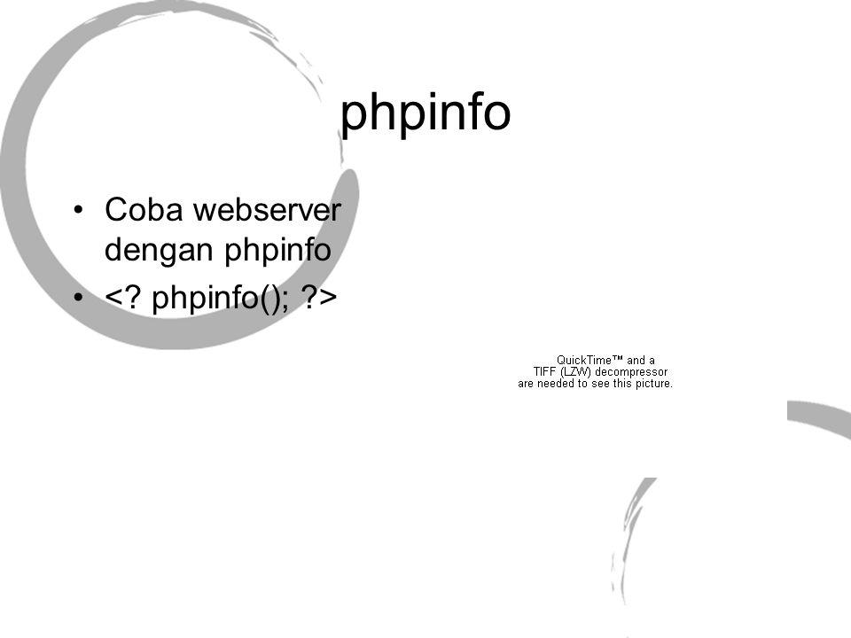 phpinfo Coba webserver dengan phpinfo