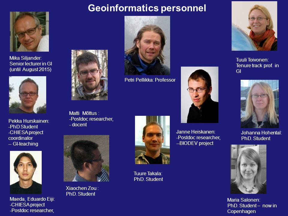 Geoinformatics personnel Tuuli Toivonen: Tenure track prof.