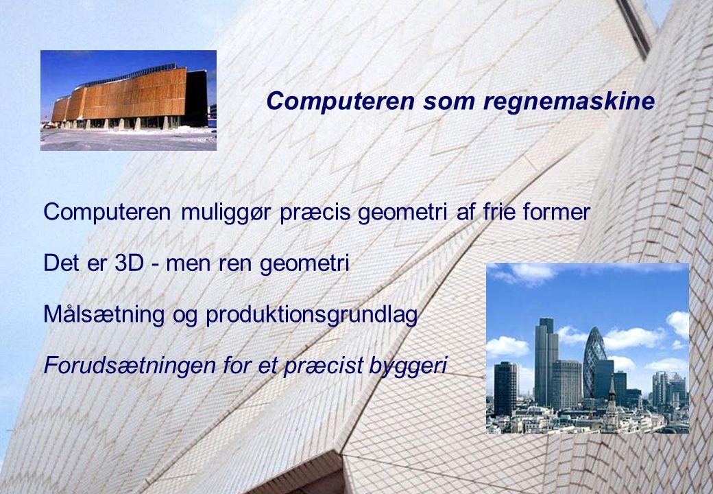Aalborg UniversityDepartment of Production Kaj A. JørgensenPage 4 Object-Oriented Building Models Computeren som regnemaskine Det er 3D - men ren geom