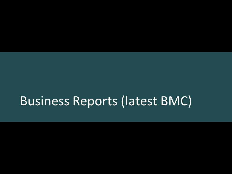 Business Reports (latest BMC)