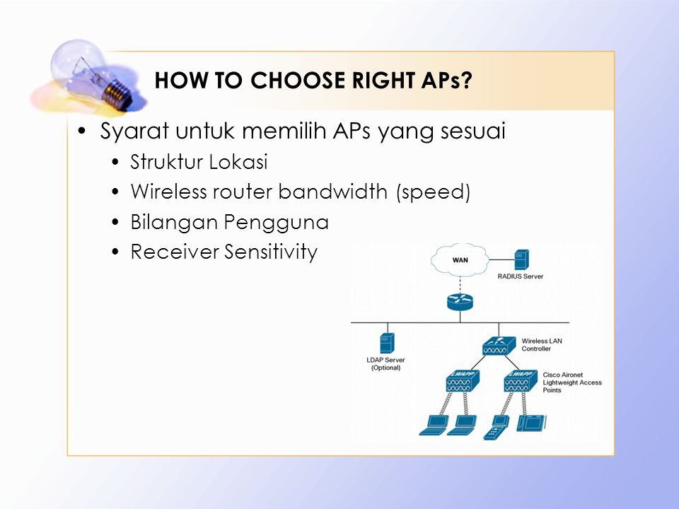 HOW TO CHOOSE RIGHT APs.