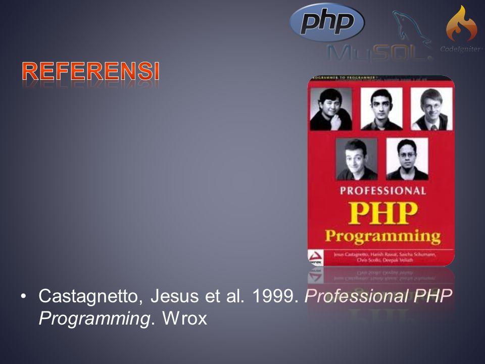 Upton, David. 2007. CodeIgniter for Rapid PHP Applicarion Development. PACKT. Birmingham, UK