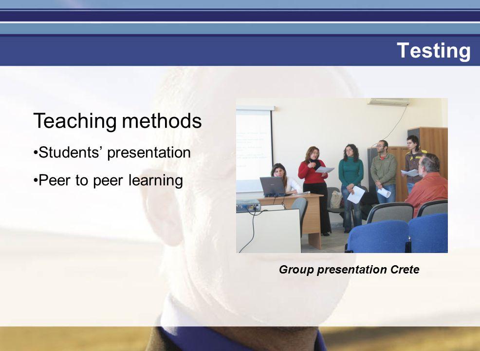 Je mag er zijn Testing Group presentation Crete Teaching methods Students' presentation Peer to peer learning