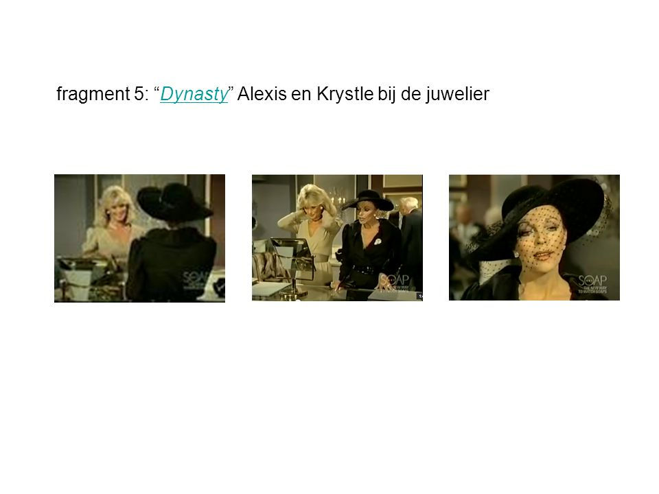 fragment 5: Dynasty Alexis en Krystle bij de juwelierDynasty