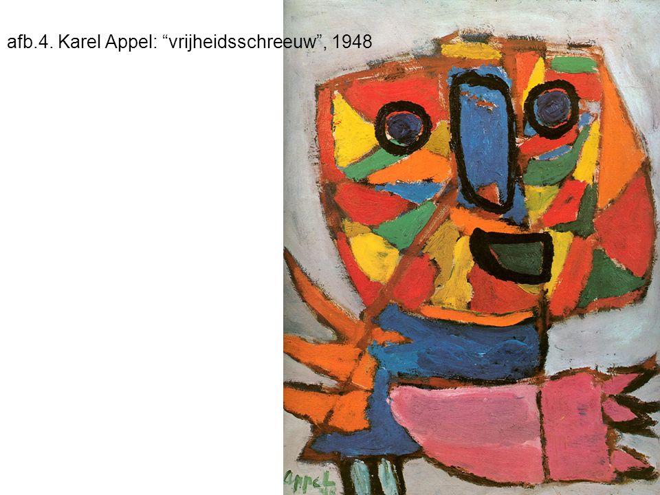 afb.4. Karel Appel: vrijheidsschreeuw , 1948