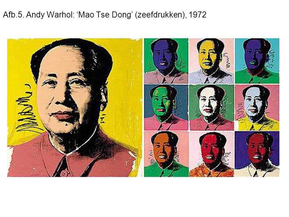 Afb.5. Andy Warhol: 'Mao Tse Dong' (zeefdrukken), 1972