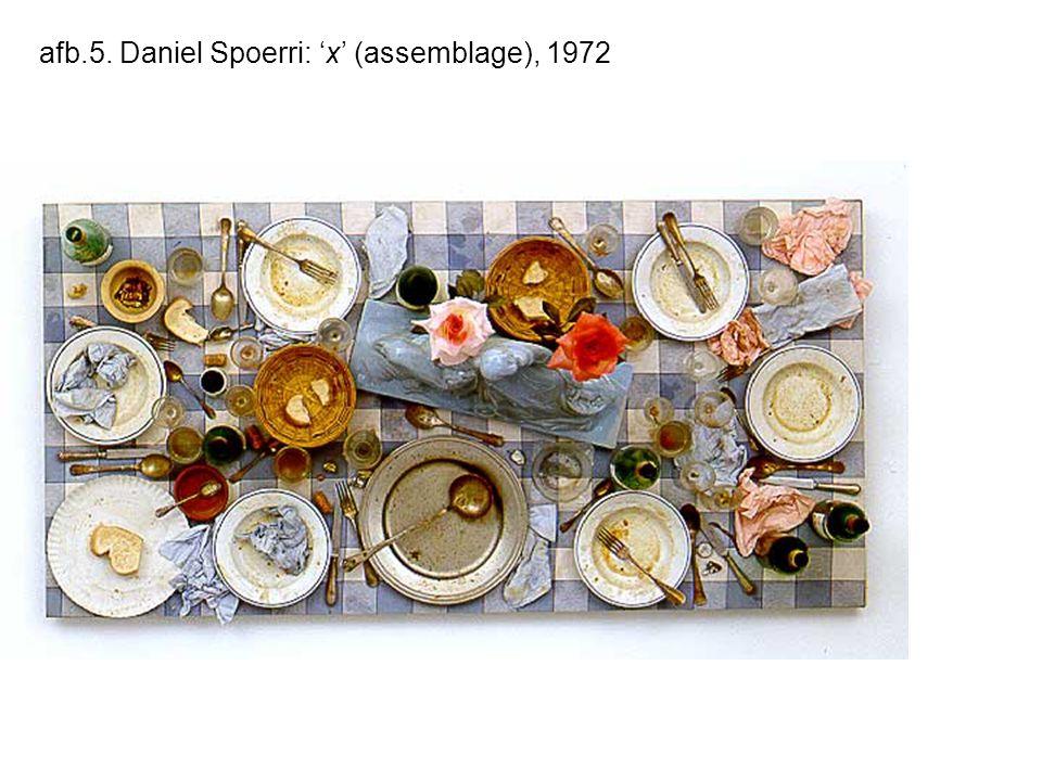 afb.5. Daniel Spoerri: 'x' (assemblage), 1972