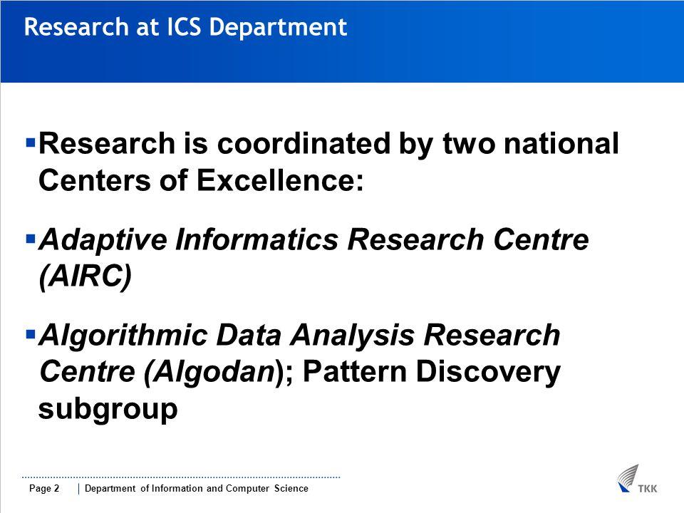 2009-05-22 Research at AIRC