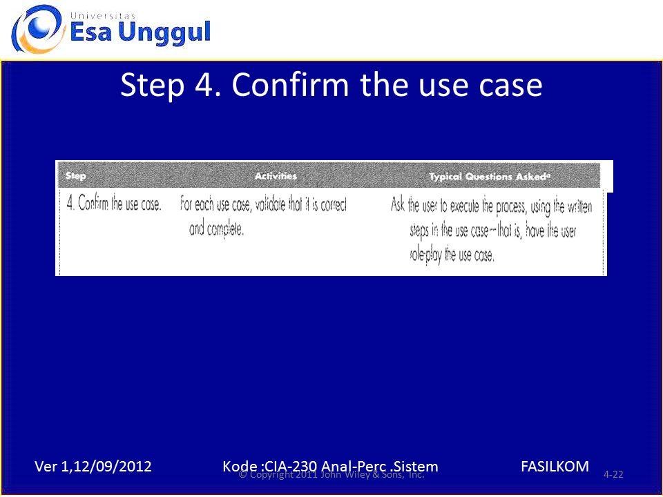 Ver 1,12/09/2012Kode :CIA-230 Anal-Perc.SistemFASILKOM Step 4.
