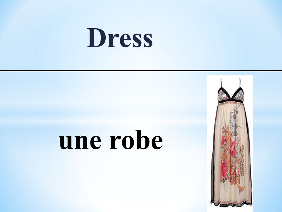 Dress une robe