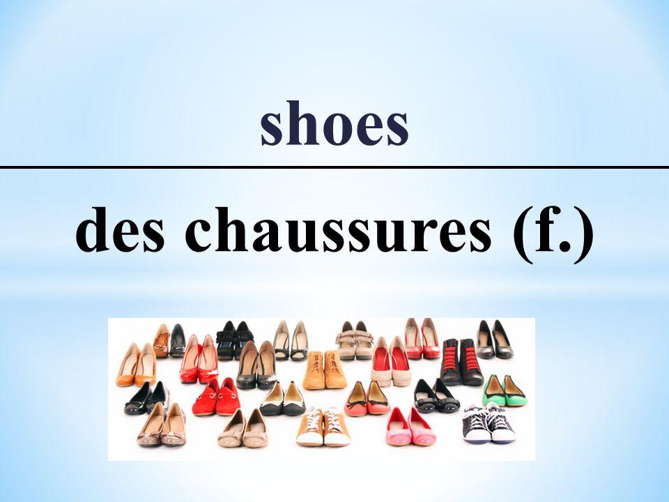 shoes des chaussures (f.)