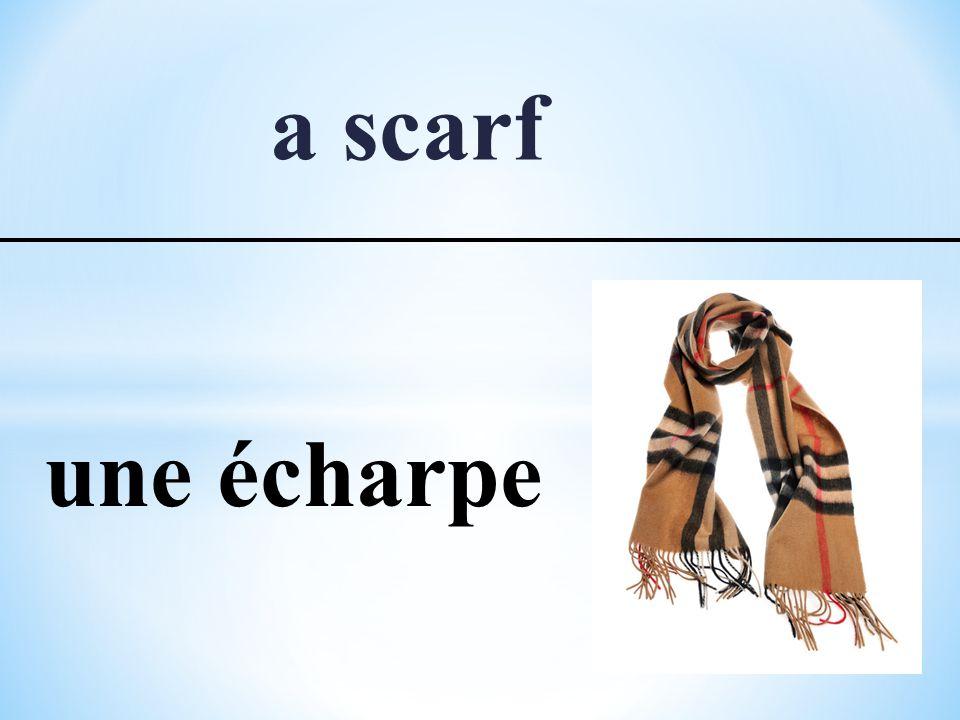 a scarf une écharpe