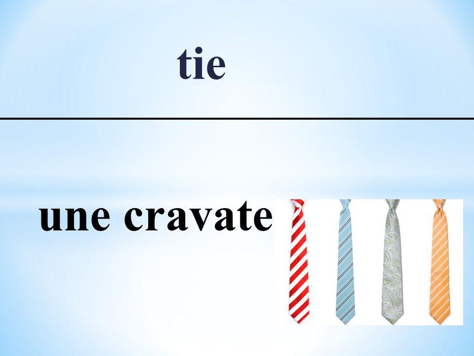 tie une cravate