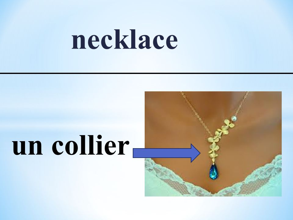 necklace un collier