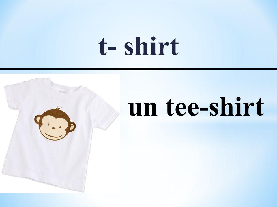 t- shirt un tee-shirt