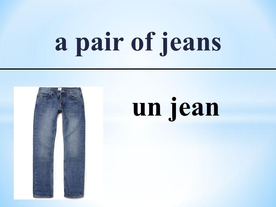 a pair of jeans un jean