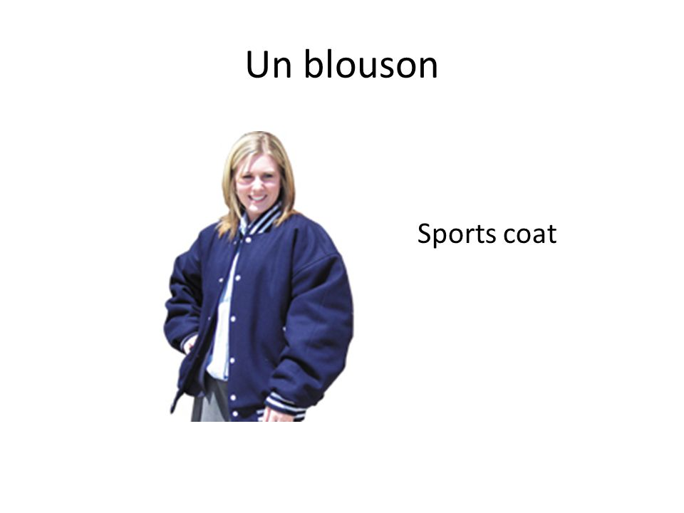 Un blouson Sports coat