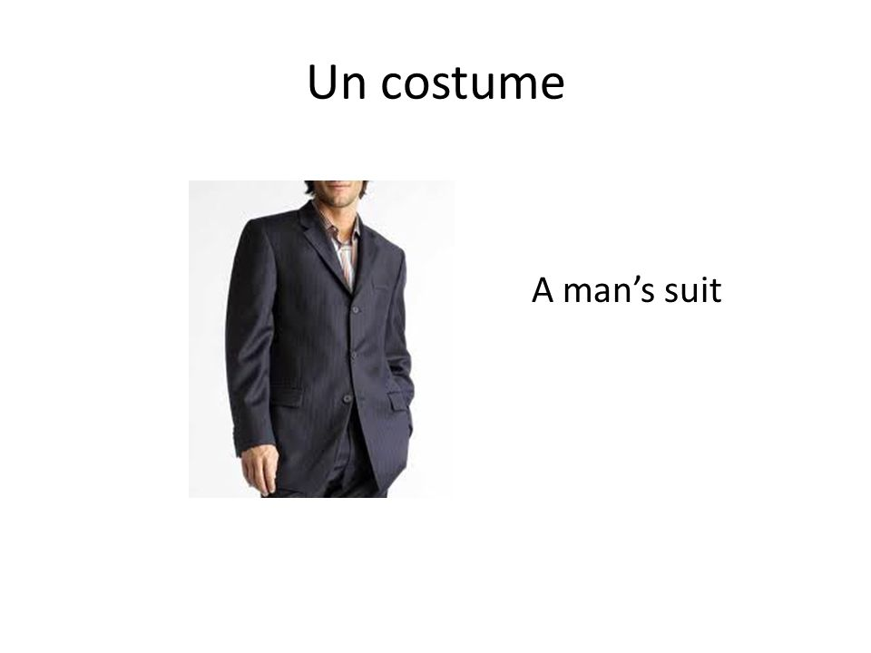Un costume A man's suit