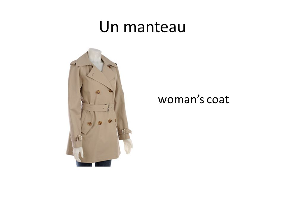 Un manteau woman's coat