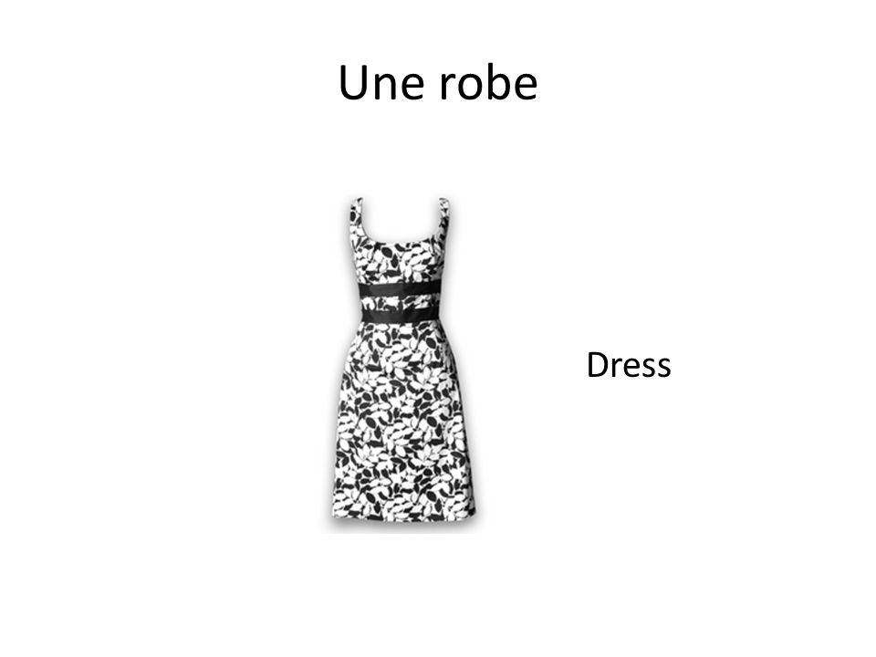 Une robe Dress