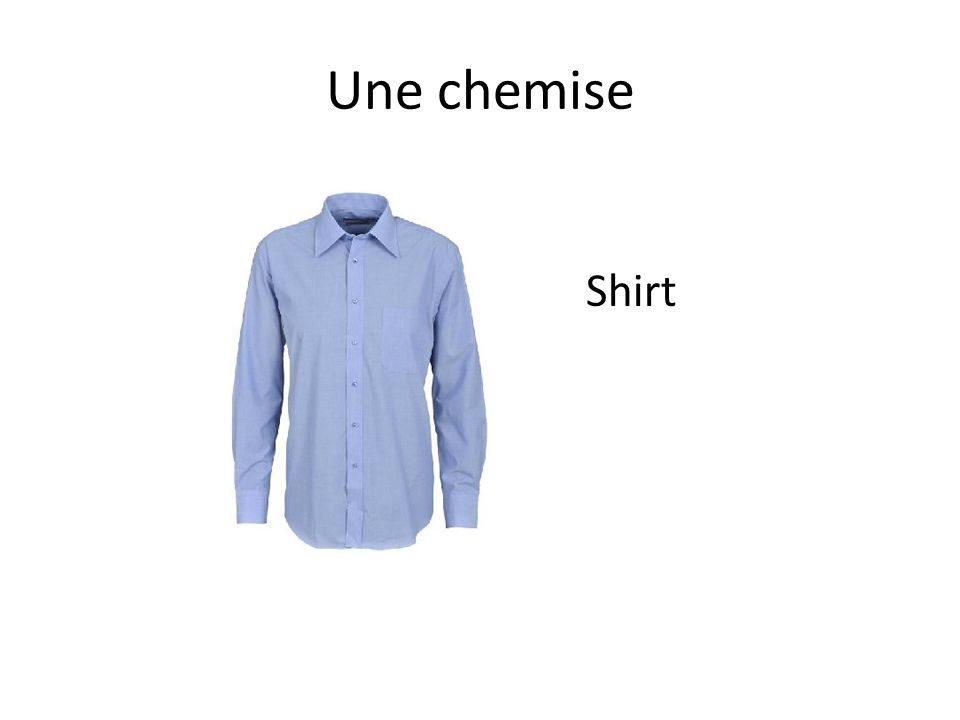 Une chemise Shirt