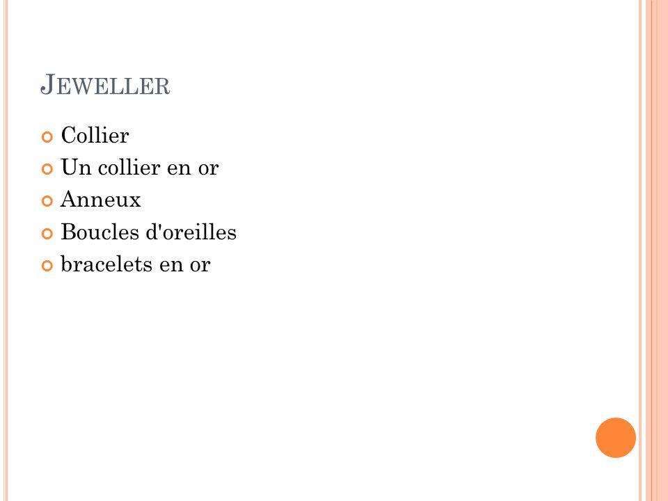 J EWELLER Collier Un collier en or Anneux Boucles d'oreilles bracelets en or