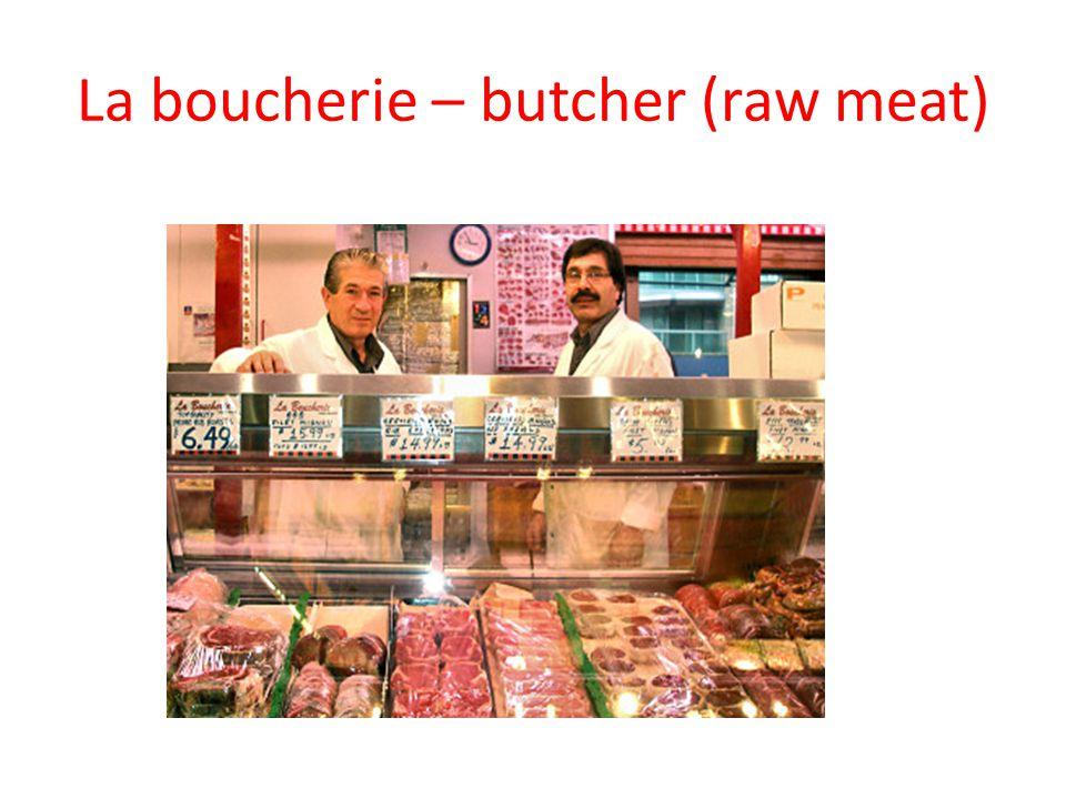 delicatessen- butcher (cooked meats)