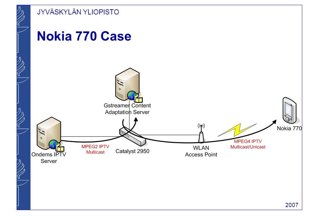 JYVÄSKYLÄN YLIOPISTO 2007 Nokia 770 Case