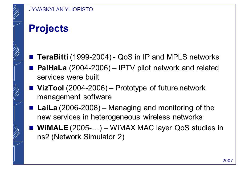 JYVÄSKYLÄN YLIOPISTO 2007 VizTool IPTV Case