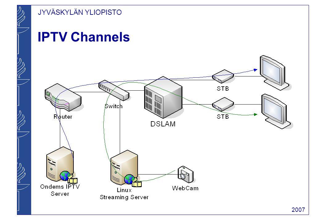 JYVÄSKYLÄN YLIOPISTO 2007 IPTV Channels