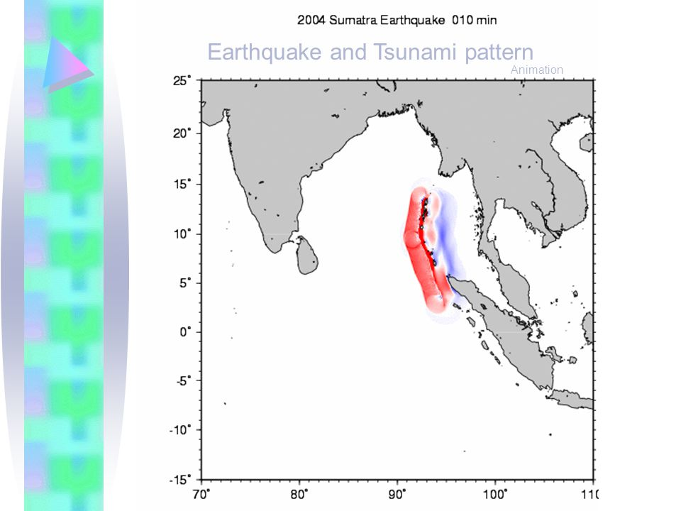 Earthquake and Tsunami pattern Animation