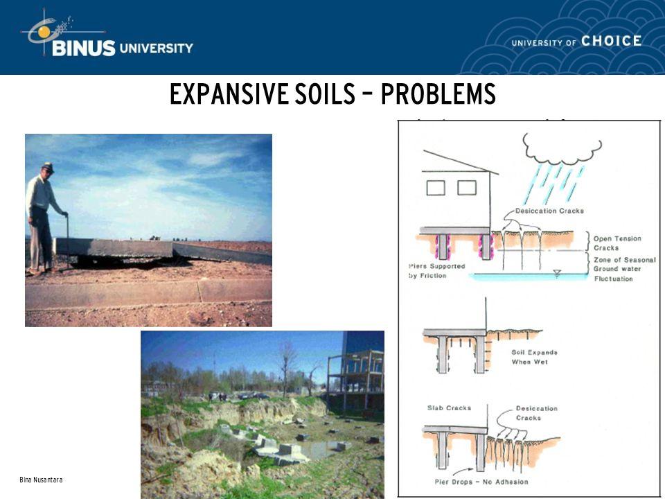 Bina Nusantara EXPANSIVE SOILS – PROBLEMS