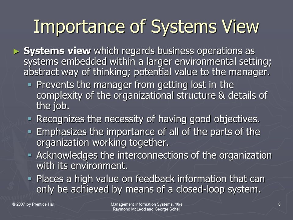 © 2007 by Prentice HallManagement Information Systems, 10/e Raymond McLeod and George Schell 9 Building on the Concepts ► Elements of a problem-solving phase.