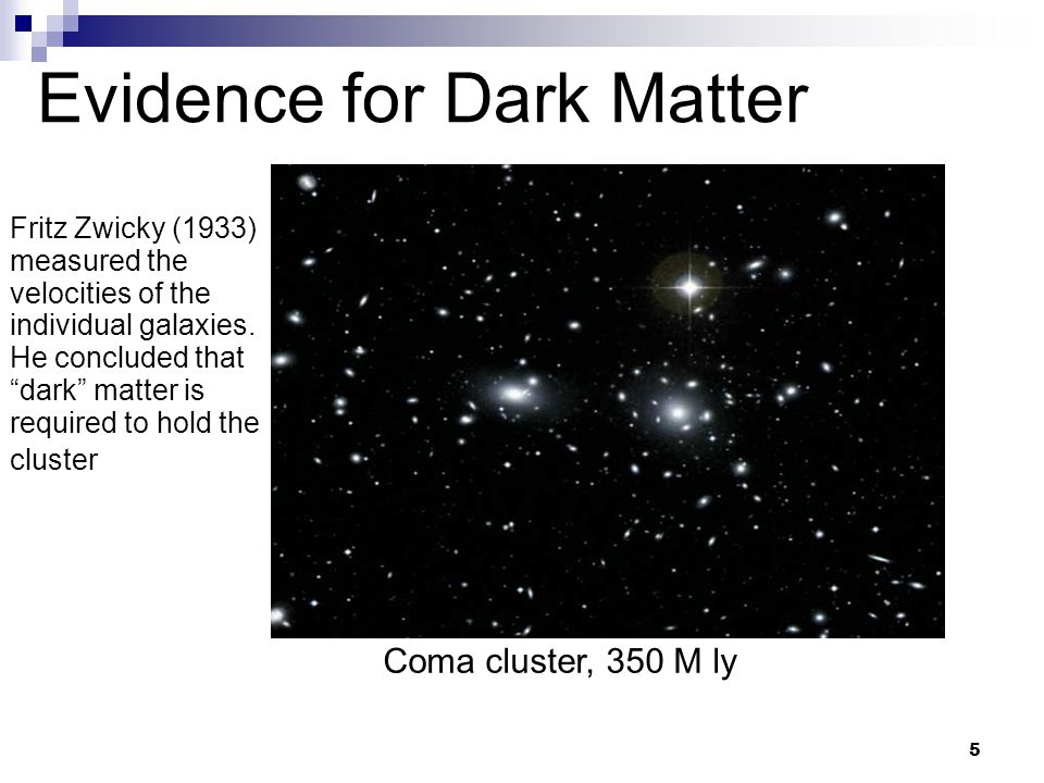 6 Evidence for Dark Matter Flat Rotation curves of Galaxies.