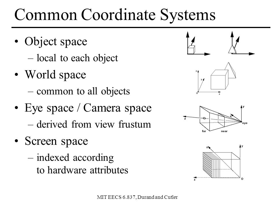 MIT EECS 6.837, Durand and Cutler Simple Transformations Can be combined Are these operations invertible.