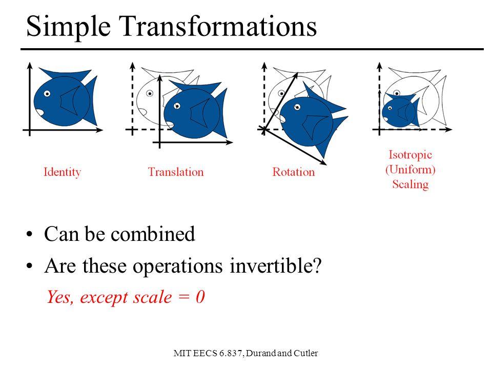 MIT EECS 6.837, Durand and Cutler Change of Orthonormal Basis uvnuvn = xyzxyz uxvxnxuxvxnx uyvynyuyvyny uzvznzuzvznz x (x.