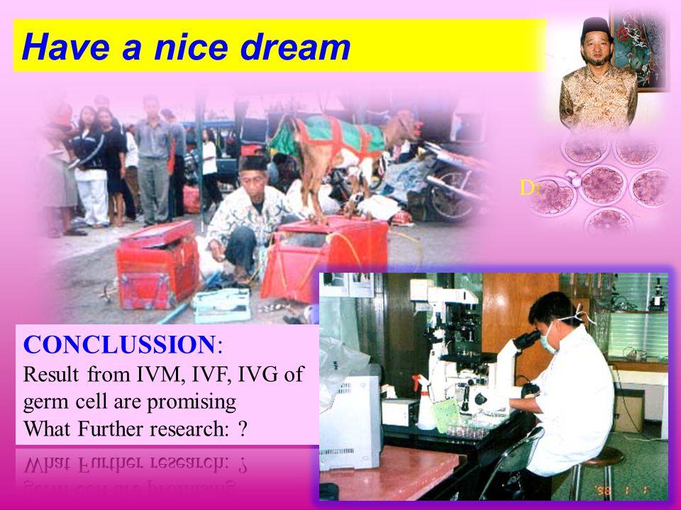 Have a nice dream……… Dr. Tanaka H.
