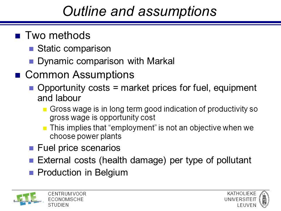 KATHOLIEKE UNIVERSITEIT LEUVEN CENTRUM VOOR ECONOMISCHE STUDIEN Methodology - Static Comparison - 5