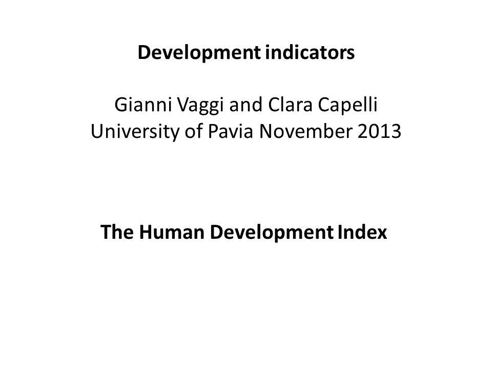 Source: HD Report, 2013 Economia dello Sviluppo