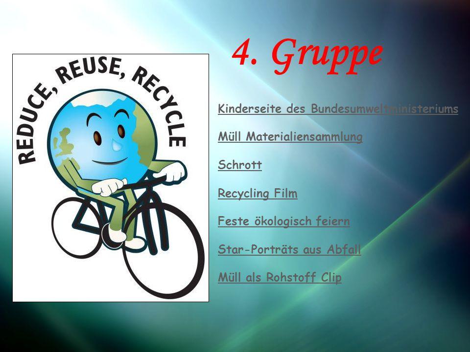 """Arbeitsgruppe 4: Die vierte Gruppe behandelt das Thema """"Unser Abfall ."""