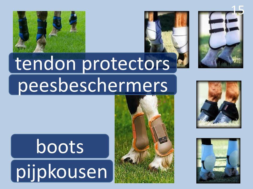 15 boots pijpkousen peesbeschermers 15 tendon protectors