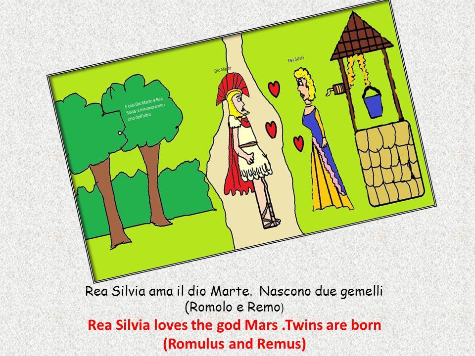 Rea Silvia ama il dio Marte.