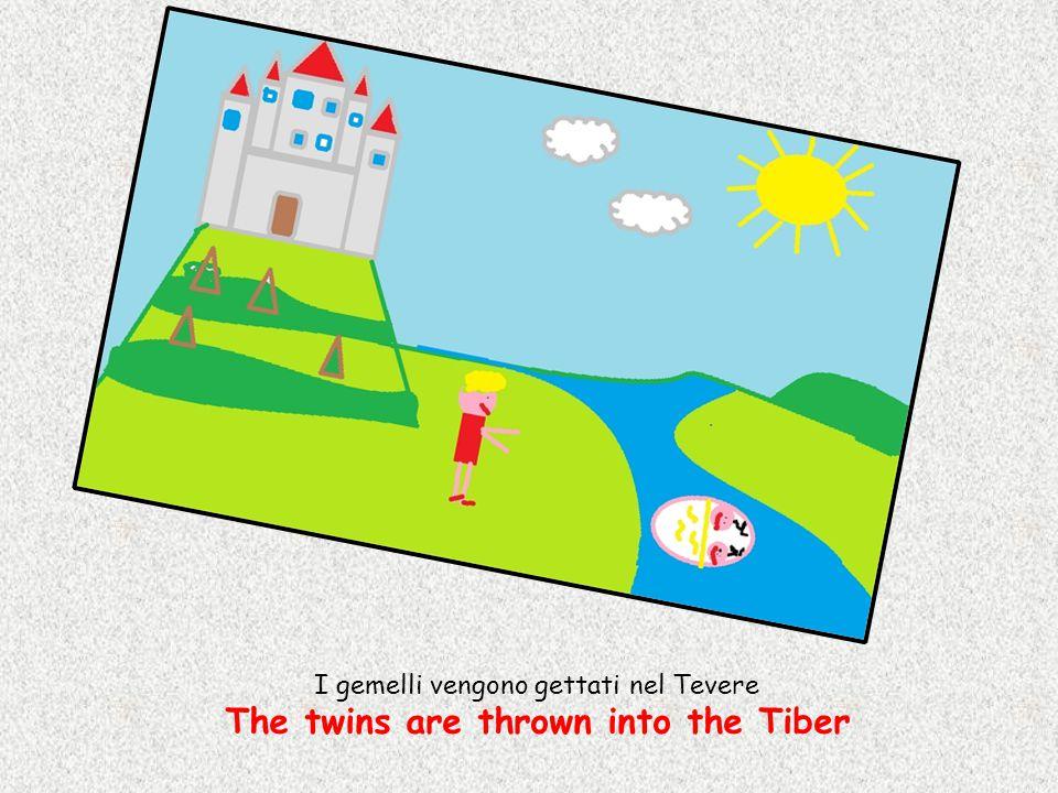 I gemelli vengono gettati nel Tevere The twins are thrown into the Tiber