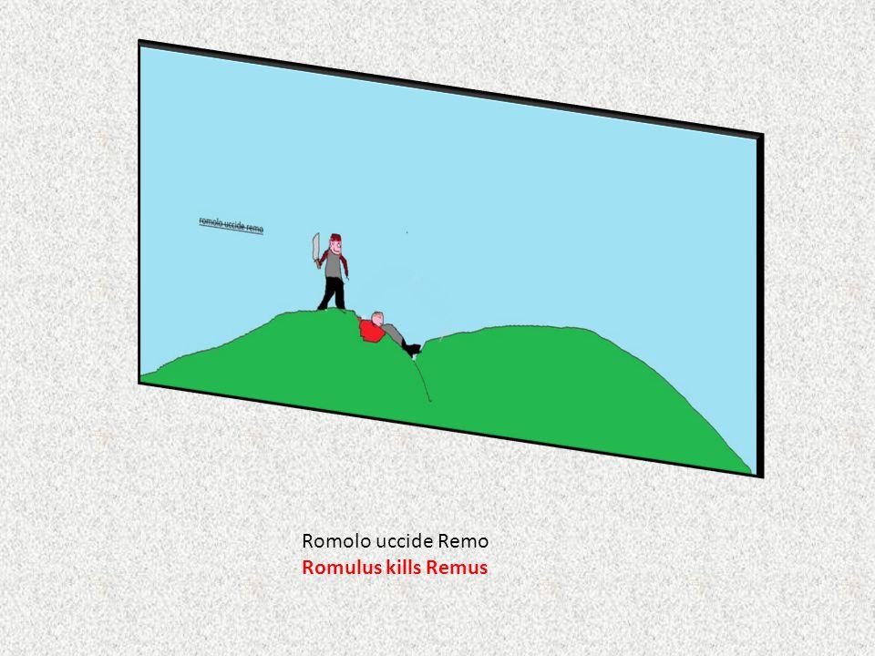 Romolo uccide Remo Romulus kills Remus