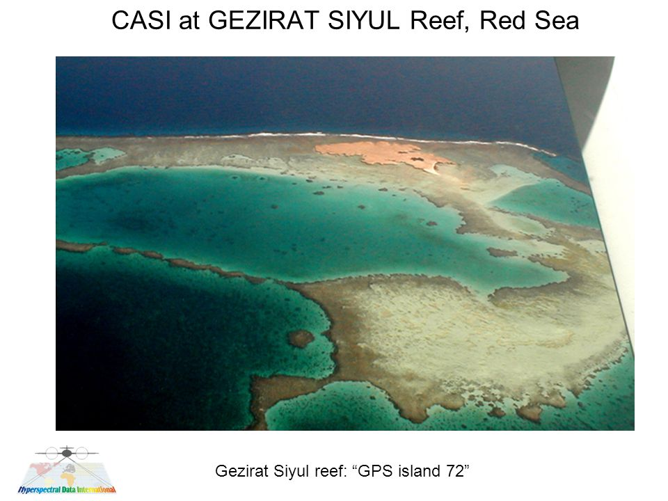 CASI at GEZIRAT SIYUL Reef, Red Sea Gezirat Siyul reef: GPS island 72