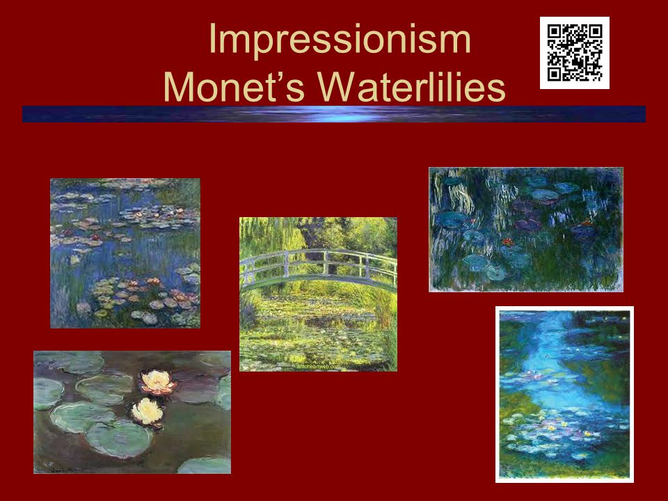 Impressionism Monet's Waterlilies
